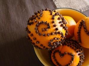 Clove Studded Orange. Source: DwellWellNW blog at DowntoEarthNW.com