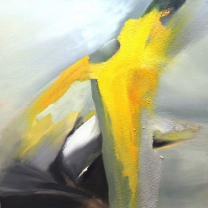 """Yellow jag"" by Nancy Simmons Smith. http://simmonssmith.com/gallery/abstracts/"