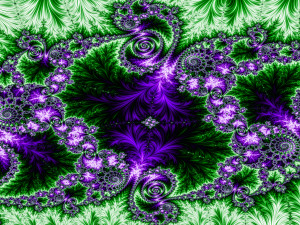 """Green-purpel Fractal by Aqualoop31."" Source: aqualoop31.deviantart.com"