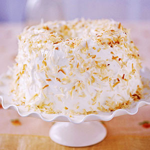 Angel Food cake with coconut. Source: recipes.com