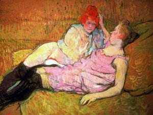 "Toulouse Lautrec, ""The Sofa,"" via art-kingdom.com"