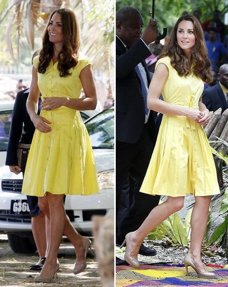 Kate Middleton Yellow Dress Kafkaesque