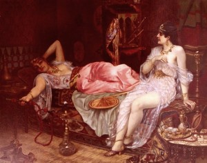 """In the Harem,"" Moritz Stifter, 1890. Source: artrenewal.org"