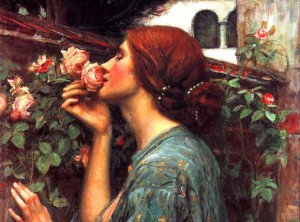 "Part of ""My Sweet Rose,"" by John William Waterhouse. Source: beauty-edit.com"