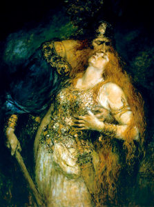 "Ferdinand Leeke,  ""The Last Farewell of Wotan and Brunhilde,"" (1875). Source: Wikipedia.com"