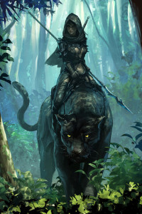 """Panther Rider"" by Jee-Hyung Lee. Source: blog.naver.com/leejeeh84"