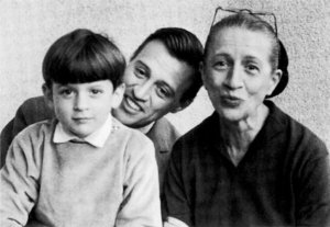 Diana Vreeland with her grandson, Alexander who created the new perfume house, as well as her son, Frederick. Source: thedailybeast.com