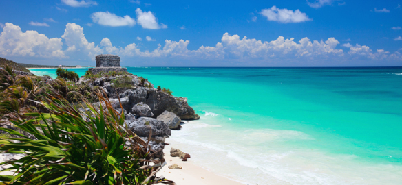 A beach on the Yucatan Peninsula. Source: wexas.com