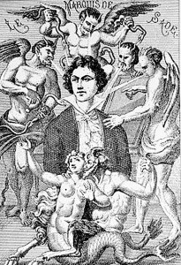 """""""The Marquis de Sade's Personal Devils,"""" 1912, unknown artist. Source: calicultural.net"""