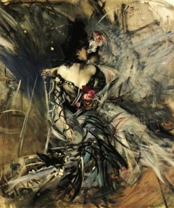 """""""Spanish Dancer at The Moulin Rouge"""" (1905) by Giovanni Boldini. Source: WikiArts."""