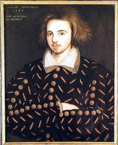 Portrait of Christopher Marlowe, anonymous painter, 1585. Source: Wikipedia