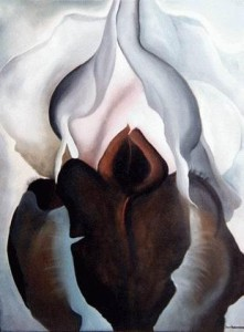 "Georgia O'Keeffe's ""Black Iris."" Source: studyblue.com"
