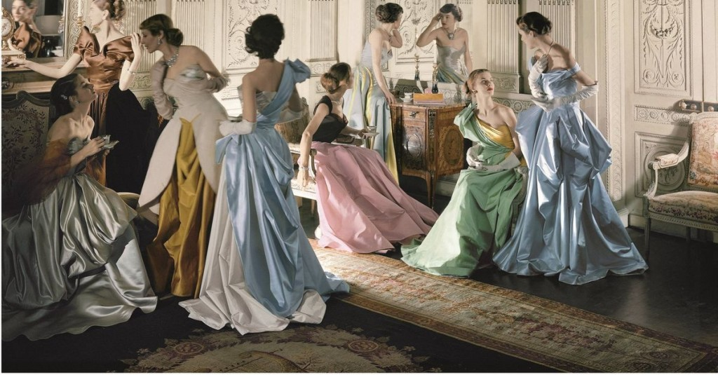 Cecil Beaton photo of Charles James' ballgowns via wnyc.org