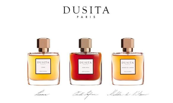 Dusita trio of fragrances. Source: Parfums Dusita. [Photo slightly cropped by me on the sides.]