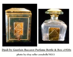 Original vintage Djedi, 1926 version. Photo originally from eBay. Source: guerlainperfumes.blogspot.com