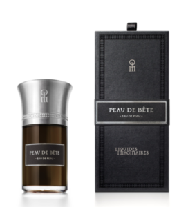 Peau de Bete and its box. Source: Les Liquides Imaginaires website. [Photo lightly cropped by me on the sides.]