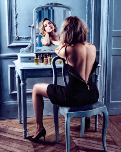 Louis Vuitton marketing image for Mille Feux featuring French actress Léa Seydoux.