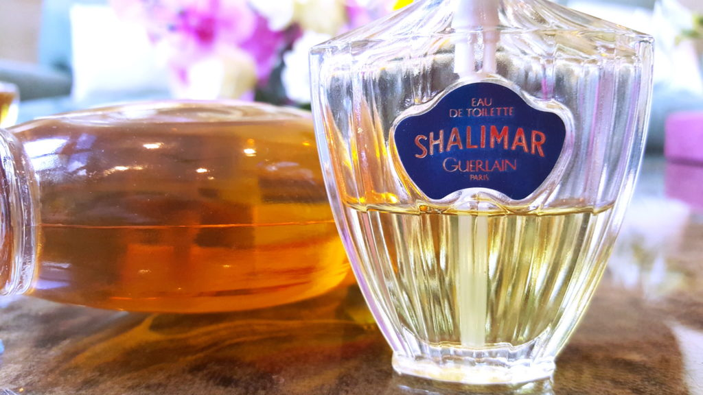 Two different coloured vintage Shalimar EDTs. Photo: my own.