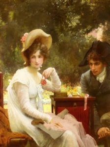"""In Love"" (1907) by Marcus Stone. Source: Pinterest."